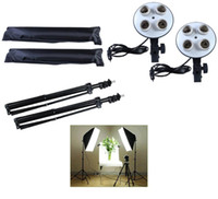 Freeshipping DHL 100-240V Photo stuido photography light Kit video soft per illuminazione continua per 4 lampade