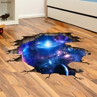 [SHIJUEHEZI] Universo Via Lattea 3D Wall Sticker Home Decor Soggiorno Decorazione Camera da letto Pavimento smontabile Stickers murali in vinile