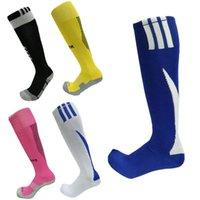 футбольный шланг оптовых-Мужчины колено высокие футбольные носки дышащий влагу Терри снизу истиранию сопротивление мужской футбол шланг Спорт элитные чулки