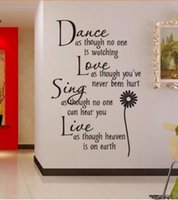 Wholesale Wall Sticker Love Dance - Free shipping Dance Love Sing Art Vinyl Wall Sticker Decals Transfer free shipping Hot New, dandys
