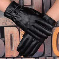 Wholesale Men Prolong - Wholesale-Hot Sale Beautiful And Fashionable Touchscreen Prolong Style Outdoor Pu Touch Glove - Color Black GLV-0019