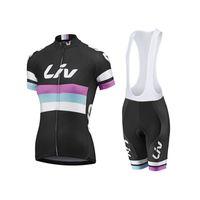 Wholesale Women Bike Suit - 2016 Women's Cycling jersey Cycling Clothes Racing clothing Cycling bike bicycle sport short sleeve short (bib) suit set New