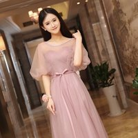 Wholesale Korean Skirts Pictures - Evening spring of 2016 new Korean Bridesmaid Dresses bridesmaid dress skirt Sisters Group thin dress long banquet
