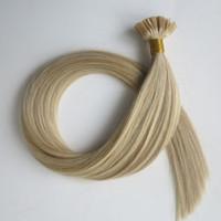 extensiones de cabello de unión previa al por mayor-Extensiones de cabello pre-enlazadas Punta plana Queratina cabello humano 50g 50Strands 18 20 22 24inch M27613 Indio brasileño productos para el cabello