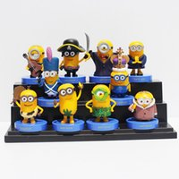 Wholesale Despicable Minion Doll Plastic - despicable me 3 figures minion figure 10pcs Despicable Me Minions pvc pvc action figure toys dolls 6cm christmas gifts for children in stock