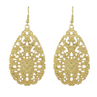 Wholesale Vintage Style Chandelier Earrings - Hot promotion fashion vintage style hollow out water drop earrings