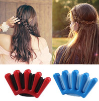 Wholesale french braider for sale - Group buy DIY hair braider Europe and the French fashion modeling tool Twist Styling Hair Braider Braid Tool Holder Clip