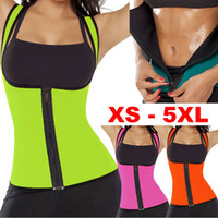 Wholesale Womens Shapers - Sexy Womens Neoprene Body Shapers Workout Waist Trainer Vest Full Support Sport Gym Fitness Slimming Waist Training Corset