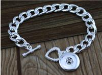 Wholesale Diy Leather Bracelet Rope - 10pcs 20cm icm width ROLO CHAINS bracelets heart noosa ginger snap bracelets multiplayer leather bracelet DIY lobster clasp bracelet