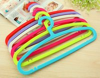 Wholesale Cheap Clothes Closet - [Free shipping] New Style ! Cheap tough Colorful Plastic Hanger for Clothes   Adults' Hanger(20 Pieces  Lot)