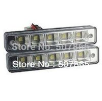 Wholesale Day Light Drl - Free shipping Top quality day light led car 5leds 5050 SMD white LED daytime running light DRL E4 RL00 2pcs lot