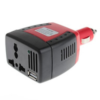 Wholesale Inverter 5v - 150W DC 12V to AC 220V Power Inverter with USB 5V Output with Cooling Fan Free Shipping