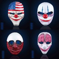 Wholesale White Horror Film Masks - Harvest Day Magic Anime Horror Mask Full Face Resin Colletion Game Film Mask Halloween Party Cosplay Costume Supplies Promotion Gift SD329