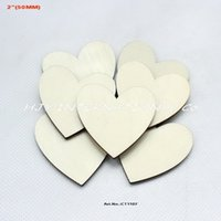 Wholesale Unfinished blank wooden heart supplies cut outs wood heart shape wedding crafts quot MM CT1107