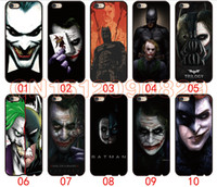 Wholesale Batman 4s Case - Batman and The Joker Face For iPhone 6 6S 7 Plus SE 5 5S 5C 4S iPod Touch 5 For Samsung Galaxy S6 Edge S5 S4 S3 mini Note 5 4 3 phone cases