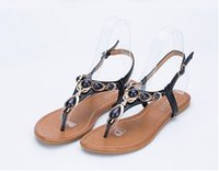 Wholesale Y Thongs Women - Foreign trade thong sandals, women's Bohemian adah yards of diamond flat sandals female new wholesale Y - 7 free postage