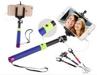 Wholesale Tripod S3 - 2015 selfie stick with tripod selfie-stick cable monopod selfie stick For iphone 5 4 3 samsung s3