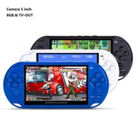 8GB Handheld Game Players 5 Inch Portable Mini Game Console MP4 Player X9 Game Player com Camera Supprt TV Out TF Card Video Retail Box