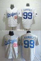 Wholesale Cheap Kids Factory - Factory Outlet Cheap Mens Womens Kids Los Angeles Dodgers 99 Manny Ramirez White Gray 100% Stitched Cool Base Flex Base Baseball Jerseys