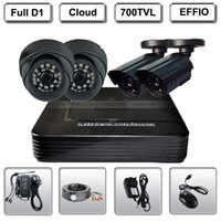 4CH DVR 4 EFFIO CCD Security Camera System 700TVL
