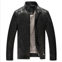 Wholesale Motorcycle Leather Coats - Fall- Leather Jackets Men Coats Sheepskin Motorcycle Leather Jacket Men's Luxury LeatherJacket Jaqueta de couro Veste homme 5218