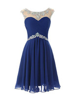 Wholesale Regency Chiffon Bridesmaid - 2016 New Cheap Simple Pupolar Free Shippping Ruby   Lilac  Royal Blue   Sage   Regency Sheath Scoop Knee-length Chiffon Bridesmaid Dress 131