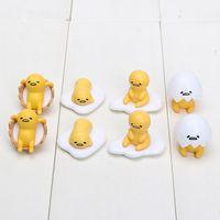 Wholesale Cute Anime Action Figure - Gudetama Egg 4 Style 2~3cm 8pcs Lot Cute Lovely Gudetama Toys Yellow White Lazy Egg Gudetama Action Figure Anime