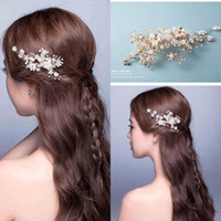 Wholesale Cheap Pearl Decorations - $8.59 Free Shipping Cheap 2016 New Elegant Beaded Wedding Hair Accessory Crystals Bridal Hair Decorations