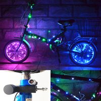 Wholesale Wire Wheels Wholesale - 2015 New Bike Bicycle 20 LED Wheel Tire Spoke Steel Wire rim Cycling Flash Light