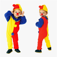 Wholesale Wholesales Men Dress Clothing - Kids Clothing Baby Clothes Baby Boy Clothes Boys Clothes New Harlequin Costume Kids Clown Halloween Fancy Dress Cosplay Hot Fashion Children