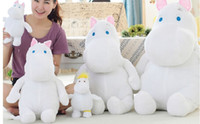 Wholesale Plush Hippo - hippo plush doll moomin vellay toy 100cm size stuffed doll animal toy free shipping