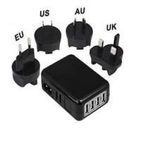 cargador de pared múltiple al por mayor-Adaptador de corriente del cargador de la pared del puerto USB 5V 6A del enchufe del enchufe 4 de la UE / de los EEUU / de Reino Unido cargador portátil