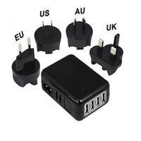 зарядные устройства с несколькими разъемами оптовых-ЕС / США / Великобритания Plug 4 порта USB 5V 6A зарядное устройство адаптер питания Multi Port зарядное устройство портативный