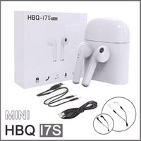 Wholesale Hi Ear - Bluetooth 4.2 Wireless Earphones Twins HBQ I7S TWS Hi Fi Stereo In Ear Headphone With Charger box Headset For Apple iPhone Android