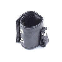 Wholesale Leather Cock Scrotum Ring - 2015 newly design Ball Stretcher With Button Leather cock rings Fetish Bondage Male Scrotum Restraint CBT toys free shipping