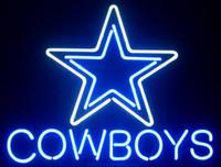"Wholesale neon crafts - New cowboys Glass Neon Sign Beer Light Bar Pub Sign Arts Crafts Gifts Sign 17""X14"""