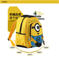 Wholesale Despicable Backpack School - 50pcs Despicable Me children cartoon Minion child minions bag backpack for kids children school bags for students schoolbag