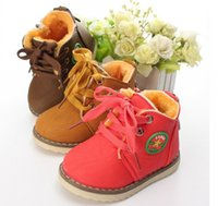 Wholesale Boots Size 21 - Hot Winter Children's Boots Warm Snow Boots For Boys and Girls plush stitching cotton Kids Shoes Size 21-30