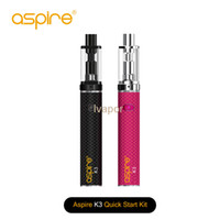 Wholesale triton tanks resale online - 2016 Authentic Aspire K3 Quick Start Kit With mah And ml K3 Tank With Aspire Nautilus Triton mini Coil Aspire K3 Kit