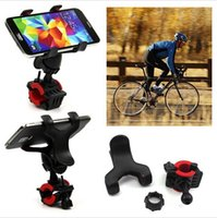 Wholesale Iphone Bracket For Bicycle - New 360 Degree Rotatable Bicycle Bike Phone Holder Handlebar Clip Stand Mount Bracket For iPhone Samsung Cellphone GPS MP4 MP5