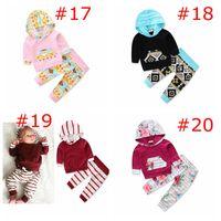 Wholesale Owl Baby Pants - XMAS INS 0-3T children Floral 2Pc Set Girls Leopard Outfits infant girls Owl deer moose 2pc set baby polka heart dress pants