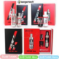 Wholesale Kanger Rebuildable Clearomizer - Subtank | Subtank Mini | Subtank Nano Sub ohm Clearomizer RBA kanger OCC Coils rebuildable Atomizer kangertech e cigs cigarettes Vapor DHL