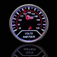 """Wholesale Smoke Gauges - Car Motor Universal Smoke Len 2"""" 52mm Indicator Volt Voltage Gauge Meter M11468 motor cargo motor mania"""