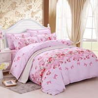 Wholesale Korean Duvet Set - Wholesale-sets princess Korean style bed set linen cute cotton 4pcs Leopard Four kinds of sizesizebedding duvet cover bedding-set bowknot