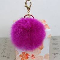 Wholesale Shoes Cellphone - Key Chain for Womens Bag or backpack Accessories Cellphone or Car Rabbit Key Ring Fur Ball pendant Pom Pom Shoes and Jerwery