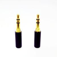 Wholesale Earphone Diy - Wholesale-Mini 3.5 mm Plug Audio Jack Gold-plated Earphone Adapter For DIY Stereo Headset Earphone or Used for Repair Earphone