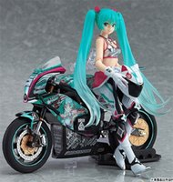 170602 Qiuchany Racing Girl Hatsune Miku Motocicleta Figma 233 PVC Anime Figuras de Acción Figura Collection Toys