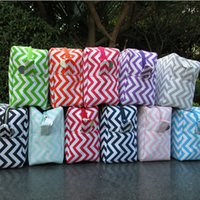 Wholesale Toiletry Gifts - Wholesale Blanks Women Chevron Cosmetic Bags Toiletry Bag With Various Colors Great Gift for Her DOMIL106001