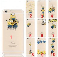 Wholesale minion iphone cases for sale – best Transparent TPU caseTPU Soft Case For iPhone S Plus S Princess Snow Mermaid Spiderman Minions yellow man Clear dhl shipping