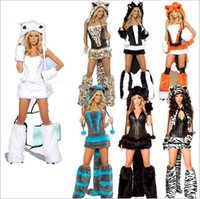 Wholesale Mixed Corsets - Deluxe Blue Cheshire Cat Costume New Fashion Sexy Cheshire Cat Costume With Hat,Corset,Tail,Leggwarmers Sexy Halloween Costume mix color